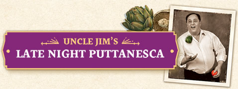 Uncle Jim's Late Night Puttanesca Jar