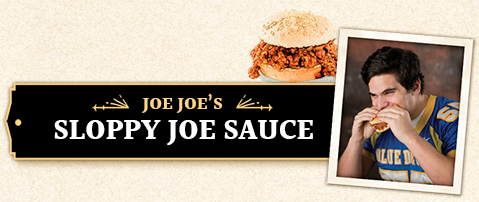 Joe Joe's Sloppy Joe Sauce Jar