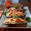 Stuffed Portobello Mushrooms with Uncle Bo's Roasted Red Pepper Tour